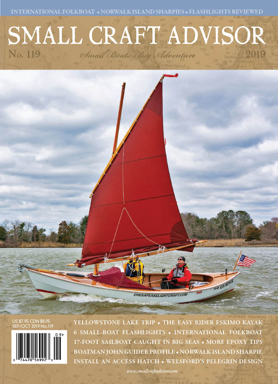 Issue #119 Sep/Oct 2019 Features: Norwalk Island Sharpie 18