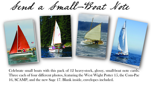 Small Boat Note Cards (Potter, Sage, SCAMP, Com-Pac)