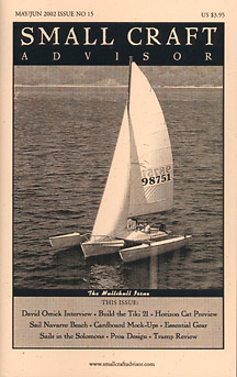Issue #15 May/Jun 2002 Features: Tramp Trimaran Review PDF DOWNLOAD