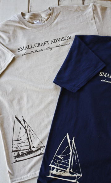 SCA Logo Shirt with Small Boats Big Adventure slogan