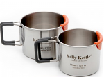 Camp Mug Set (Stainless with Silicone Cool Lips) from Kelly Kettle